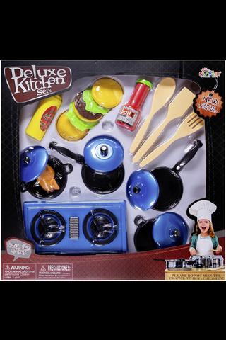 Deluxe Kitchen keittiötarvike leikkisetti