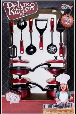 Deluxe Kitchen kattila ja ruoanlaitto väline -setti