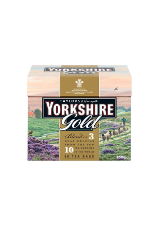Taylors of Harrogate 250g Yorkshire Gold musta pussitee 80pss