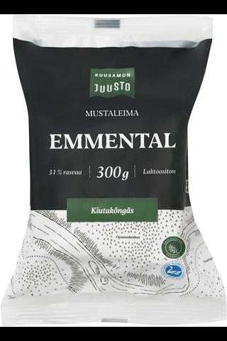 Kuusamon 300g Emmental Mustaleima juusto