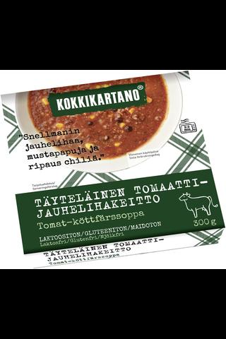 Kokkikartano Täyteläinen Tomaatti-jauhelihakeitto 300g