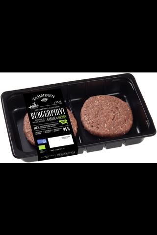 Tamminen luomukaritsan burgerpihvi maustettu 200g/2kpl