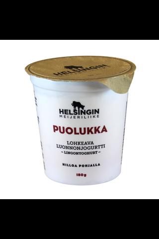 Helsingin Meijeriliike 180g lohkeava luonnonjogurtti puolukka