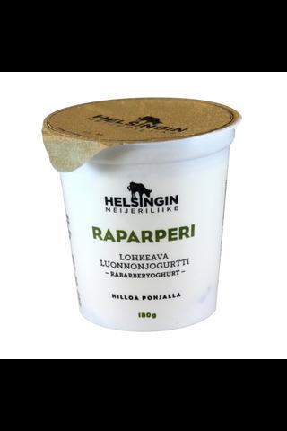 Helsingin Meijeriliike 180g lohkeava luonnonjogurtti raparperi