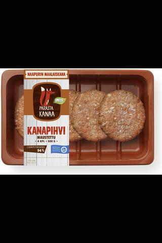 Naapurin Maalaiskanan kanapihvi, maustettu 500g
