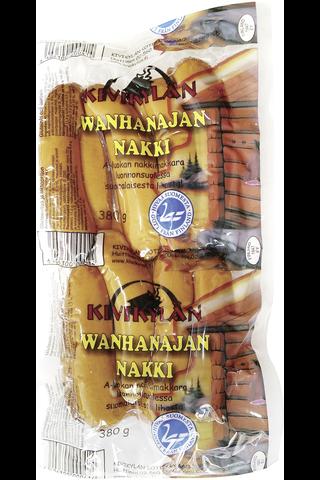 Kivikylän Wanhanajan nakki 380 g