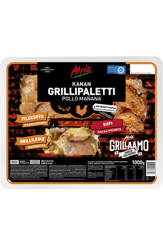 Atria Kanan Grillipaletti Pollo Mañana 1000g