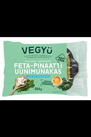 Vegyu Feta-Pinaatti Uunimunakas 300g