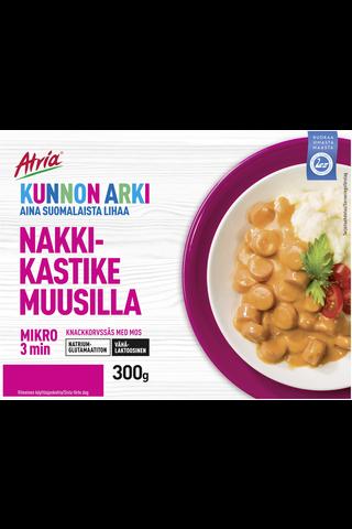 Atria Kunnon Arki Nakkikastike Muusilla 300g