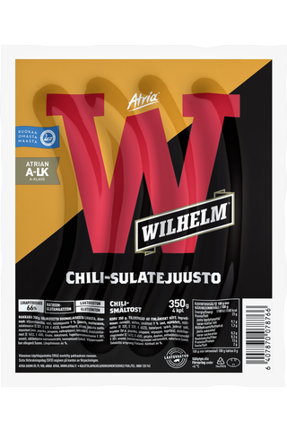 Atria Wilhelm 350g Chili-sulatejuusto