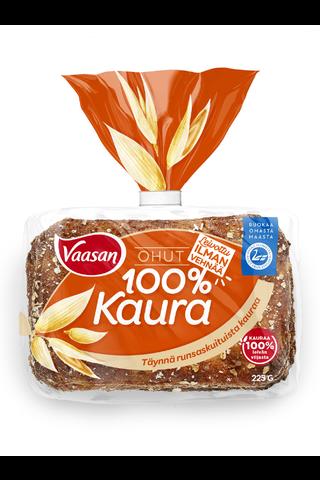 Vaasan Ohut Kaura 100% 225g 6 kpl ohut kaurapalaleipä