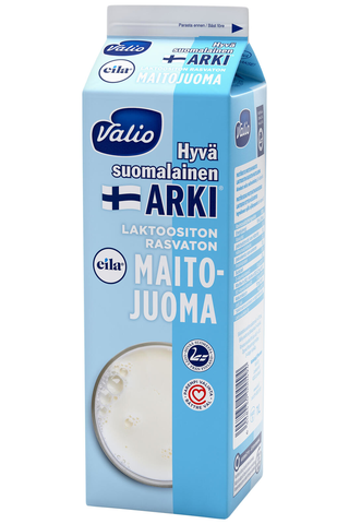 Valio Hyvä suomalainen Arki Eila 1l rasvaton maitojuoma laktoositon