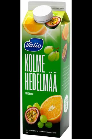 Valio 3 hedelmän mehu 1 l (rypäle, appelsiini, passionhedelmä)