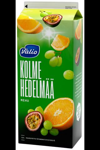 Valio 1,5l kolmen hedelmän mehu rypäle-appelsiini-passionhedelmä