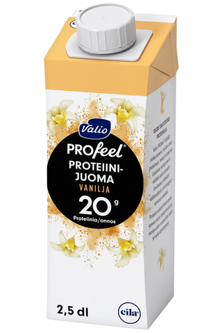 Valio PROfeel proteiinijuoma vaniljainen 2,5 dl UHT laktoositon