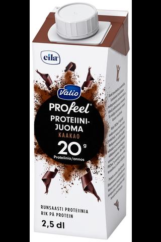 Valio PROfeel proteiinijuoma kaakao 2,5 dl UHT laktoositon