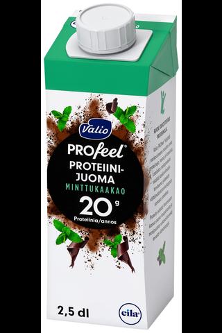 Valio PROfeel proteiinijuoma minttukaakao 2,5 dl UHT laktoositon
