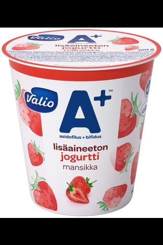Valio A+ lisäaineeton jogurtti 150 g mansikka laktoositon