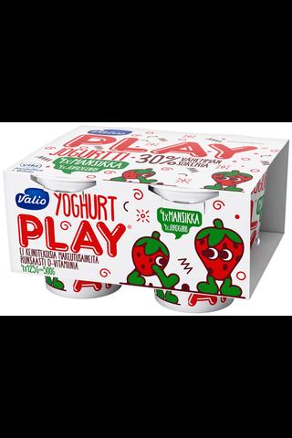 Valio Play jogurtti 4x125 g mansikka laktoositon