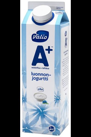 Valio A+ luonnonjogurtti 1 kg laktoositon