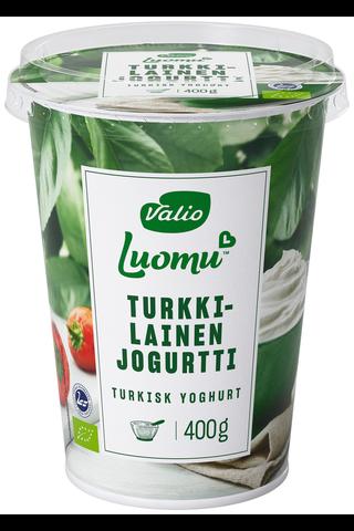 Valio Luomu 400g turkkilainen jogurtti