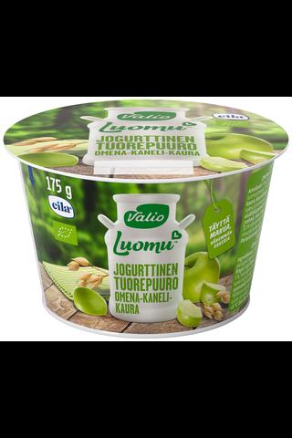 Valio Luomu jogurttinen tuorepuuro 175 g omena-kaneli-kaura laktoositon