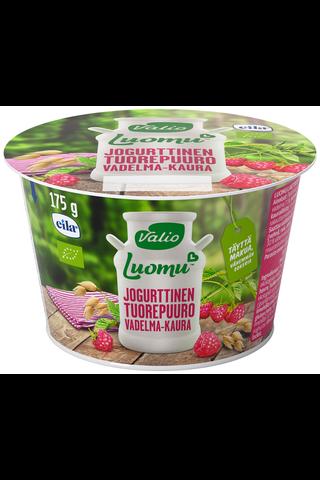 Valio Luomu jogurttinen tuorepuuro 175 g vadelma-kaura laktoositon