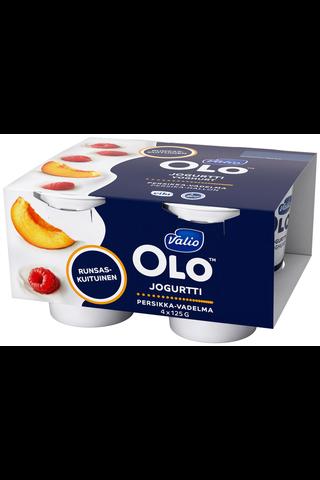 Valio OLO jogurtti 4x125 g persikka-vadelma laktoositon