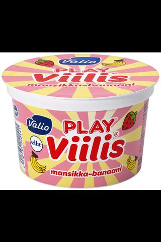 Valio Play 200g Viilis mansikka-banaani laktoositon