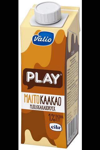 Valio Play 2,5dl maitokaakaojuoma UHT laktoositon