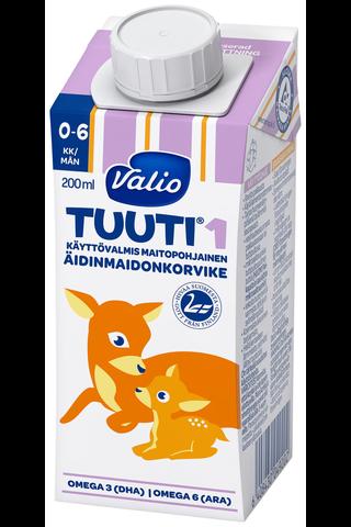 Valio Tuuti 1 maitopohjainen äidinmaidonkorvike 200 ml UHT