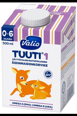 Valio Tuuti 1 maitopohjainen äidinmaidonkorvike 500 ml UHT