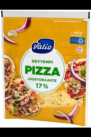 Valio kevyempi pizzajuusto 17 % e400 g raaste