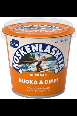 Valio Koskenlaskija Ruoka & Dippi e250 g cheddar laktoositon