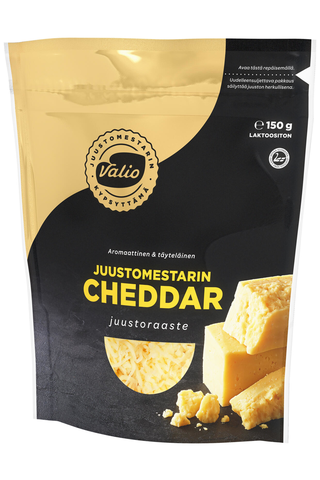 Valio Juustomestarin e150 g cheddar juustoraaste