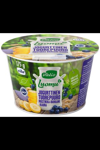 Valio Luomu jogurttinen tuorepuuro 175 g mustikka-banaani-kaura laktoositon