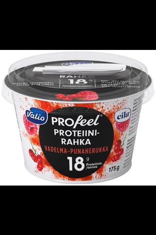 Valio PROfeel proteiinirahka sokeroimaton 175 g vadelma-punaherukka laktoositon