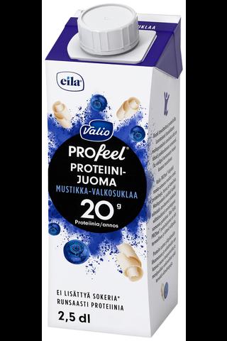 Valio PROfeel sokeroimaton proteiinijuoma mustikka-valkosuklaa 2,5 dl UHT laktoositon
