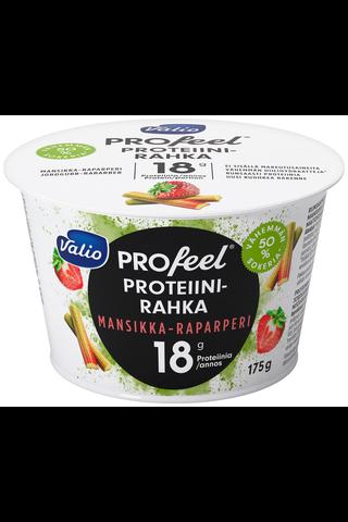 Valio PROfeel proteiinirahka 175 g mansikka-raparperi vähemmän hiilihydraatteja laktoositon