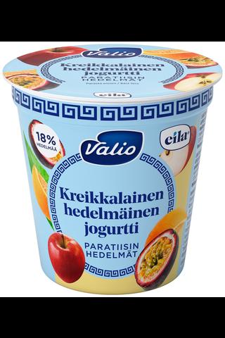 Valio kreikkalainen hedelmäinen jogurtti 150 g paratiisin hedelmät laktoositon