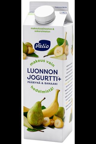 Valio Luonnonjogurtti+ päärynä & banaani 1 kg laktoositon