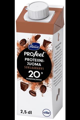 Valio PROfeel proteiinijuoma suklaakahvi 2,5 dl UHT laktoositon
