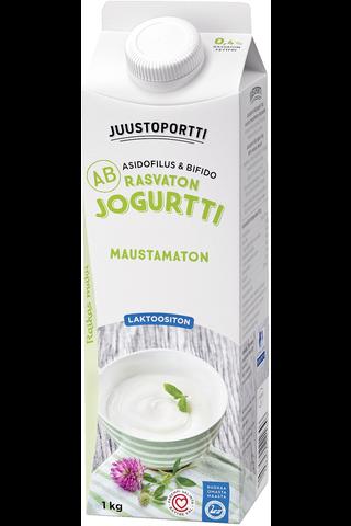 Juustoportti Rasvaton AB-jogurtti 1 kg maustamaton laktoositon