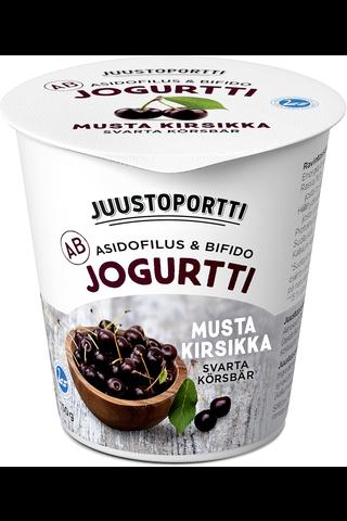 Juustoportti 150g AB-jogurtti musta kirsikka