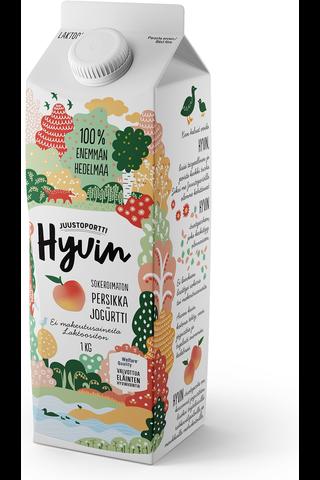 Juustoportti Hyvin sokeroimaton jogurtti 1 kg persikka laktoositon