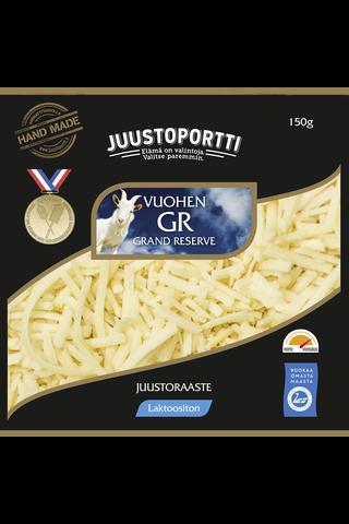 Juustoportti Vuohen Grand Reserve juustoraaste 150 g laktoositon