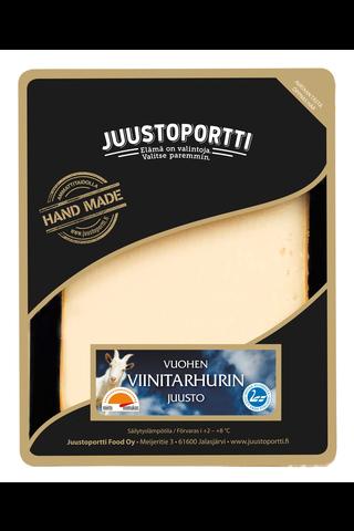 Juustoportti Vuohen viinitarhuri juusto 175g suojakaasurasiassa