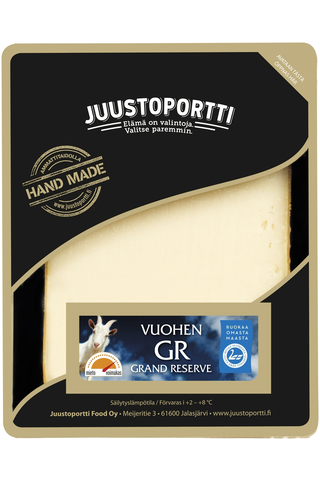Juustoportti Vuohen Grand Reserve juusto 175 g laktoositon
