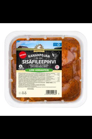 Kariniemen Kananpojan sisäfileepihvi lime-korianteri 500 g