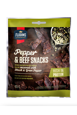 Flodins 40g Pepper Beef Snack